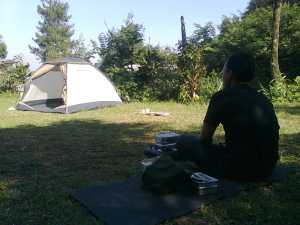 In area camping ground